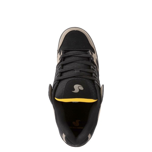 alternate view Mens DVS Celsius Skate Shoe - Black / Gray / YellowALT4B