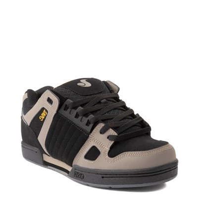 Alternate view of Mens DVS Celsius Skate Shoe - Black / Gray / Yellow