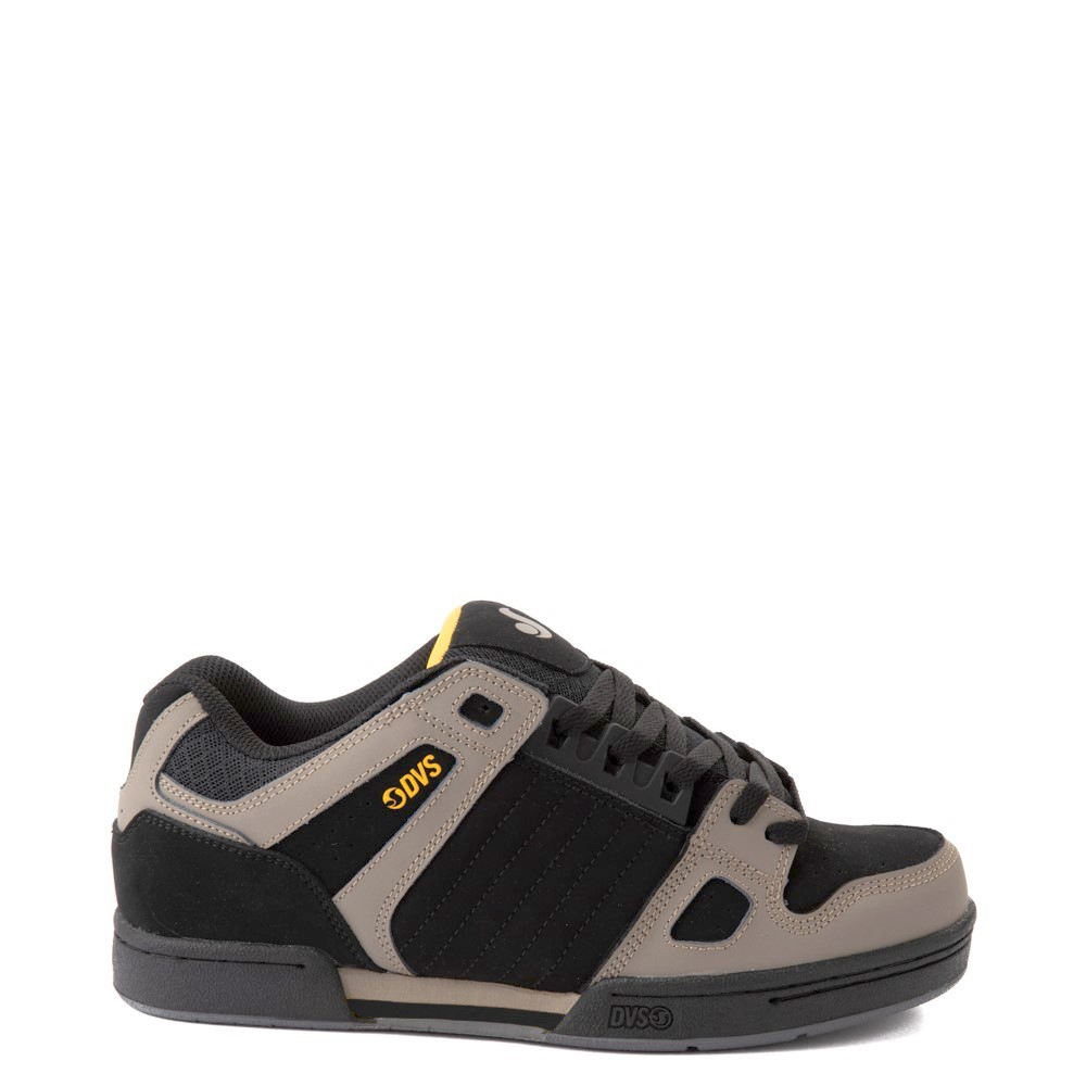 Mens DVS Celsius Skate Shoe - Black / Gray / Yellow