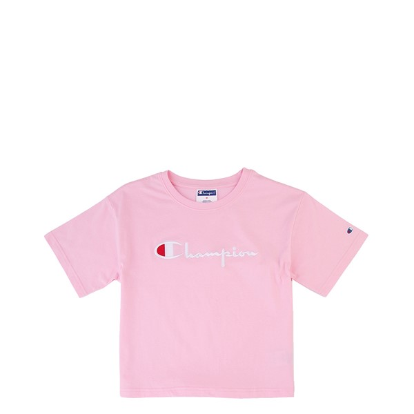 Main view of Champion Boxy Tee - Little Kid / Big Kid - Pink