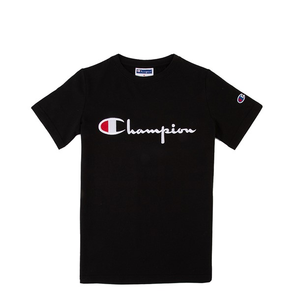 Champion Script Logo Tee - Little Kid / Big Kid - Black