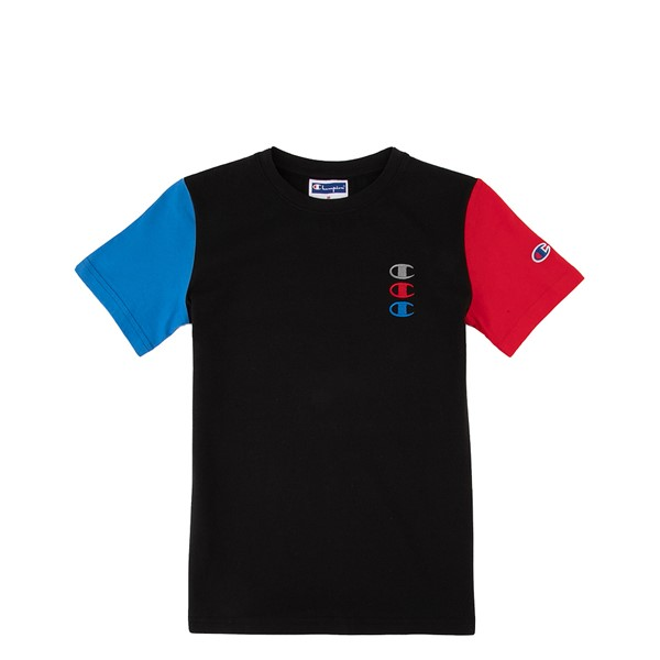 Champion Triple Stack Tee - Little Kid / Big Kid - Black