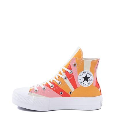Alternate view of Womens Converse Chuck Taylor All Star Hi Platform Sneaker - Sunflower Gold / Poppy