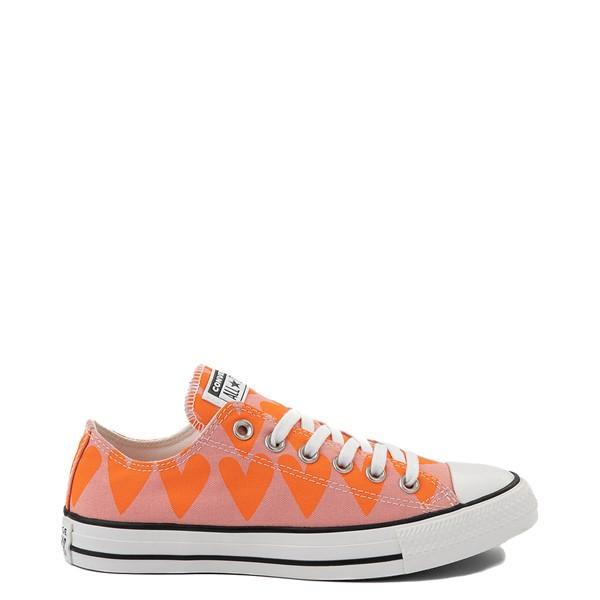Main view of Womens Converse Chuck Taylor All Star Lo Hearts Sneaker - Pink Quartz / Magma Orange