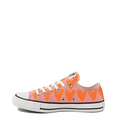 Alternate view of Womens Converse Chuck Taylor All Star Lo Hearts Sneaker - Pink Quartz / Magma Orange