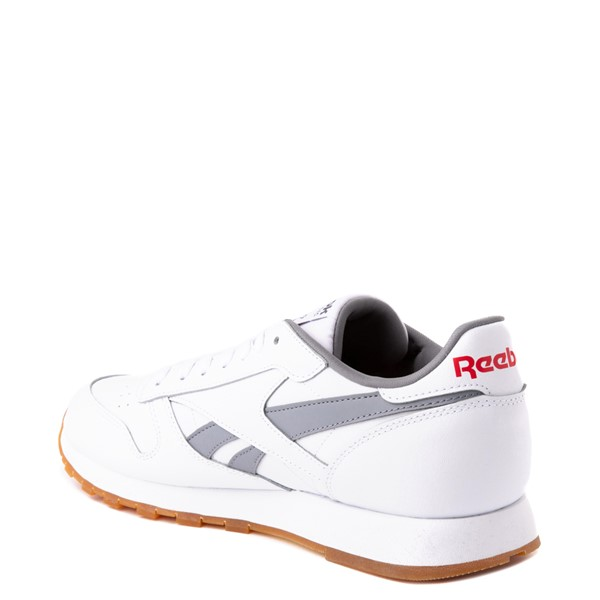 alternate view Mens Reebok Classic Athletic Shoe - White / GrayALT1