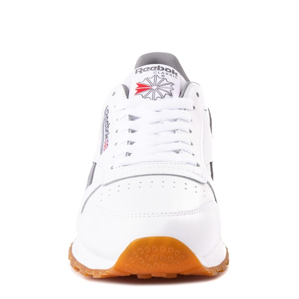 alternate view Mens Reebok Classic Athletic Shoe - White / GrayALT4