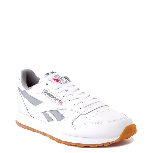 alternate view Mens Reebok Classic Athletic Shoe - White / GrayALT5