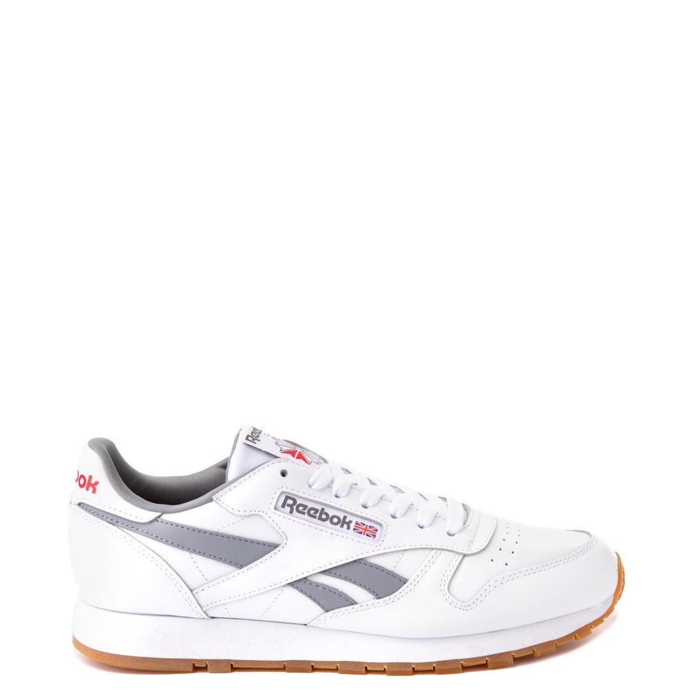 Mens Reebok Classic Athletic Shoe - White / Gray
