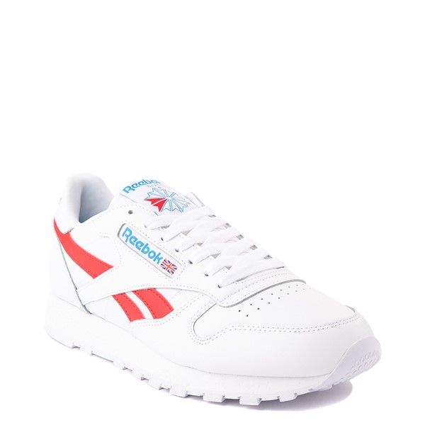 alternate view Mens Reebok Classic Athletic Shoe - White / Red / BlueALT5