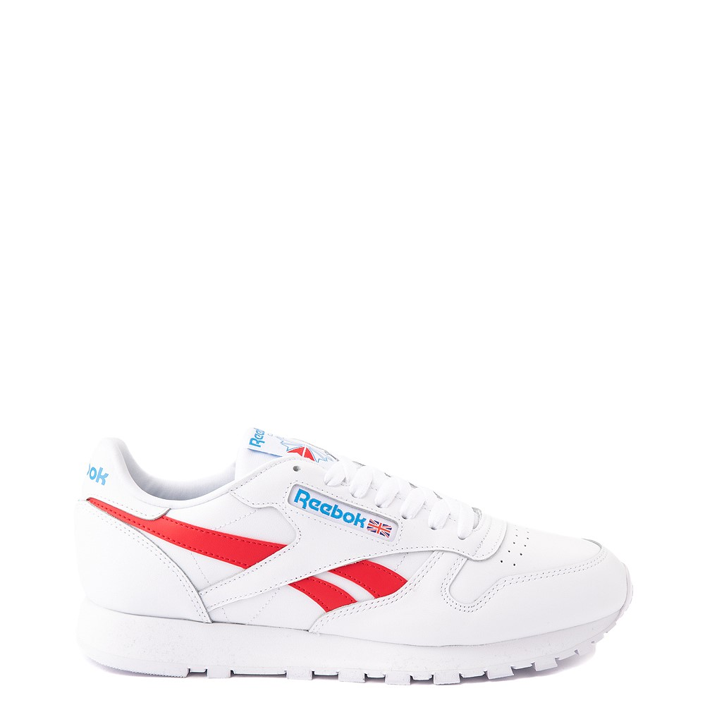 Mens Reebok Classic Athletic Shoe - White / Red / Blue