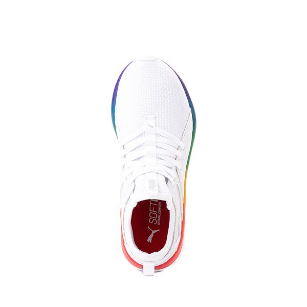 alternate view Puma SoftRide Sophia Athletic Shoe - Little Kid / Big Kid - White / RainbowALT2