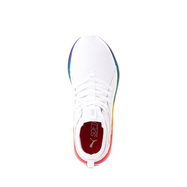 alternate view Puma SoftRide Sophia Athletic Shoe - Big Kid - White / RainbowALT2