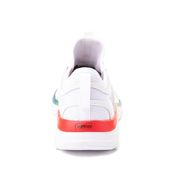 alternate view Puma SoftRide Sophia Athletic Shoe - Big Kid - White / RainbowALT4