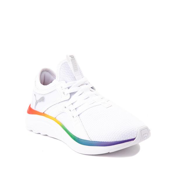 alternate view Puma SoftRide Sophia Athletic Shoe - Big Kid - White / RainbowALT5