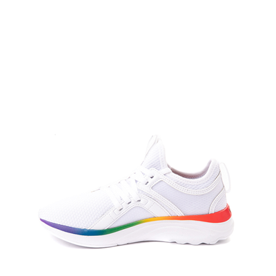 Alternate view of Puma SoftRide Sophia Athletic Shoe - Big Kid - White / Rainbow