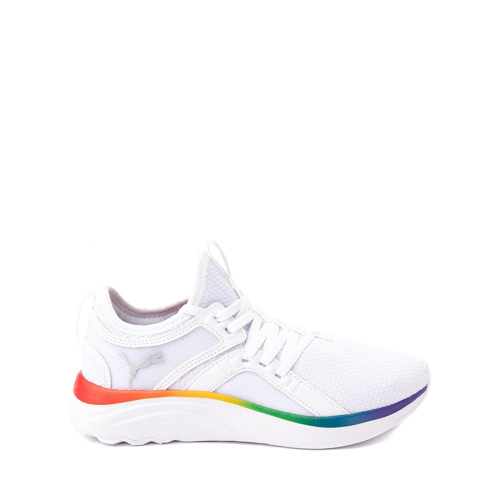 Puma SoftRide Sophia Athletic Shoe - Big Kid - White / Rainbow