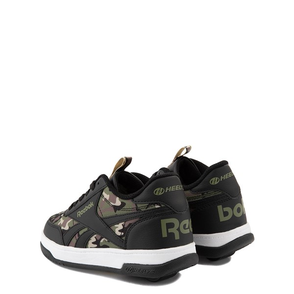 alternate view Reebok x Heelys CL Court Low Skate Shoe - Little Kid / Big Kid - Black / CamoALT1