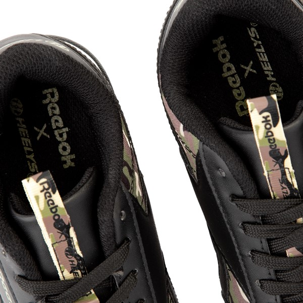 alternate view Reebok x Heelys CL Court Low Skate Shoe - Little Kid / Big Kid - Black / CamoALT2B