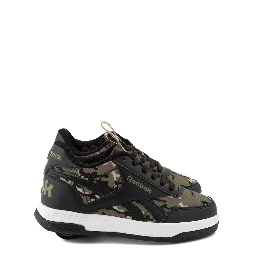 Reebok x Heelys CL Court Low Skate Shoe - Little Kid / Big Kid - Black / Camo