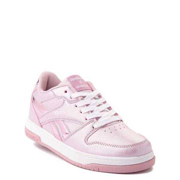 alternate view Reebok x Heelys CL Court Low Skate Shoe - Little Kid / Big Kid - Pink SparkleALT5
