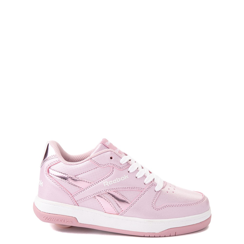 Reebok x Heelys CL Court Low Skate Shoe - Little Kid / Big Kid - Pink Sparkle