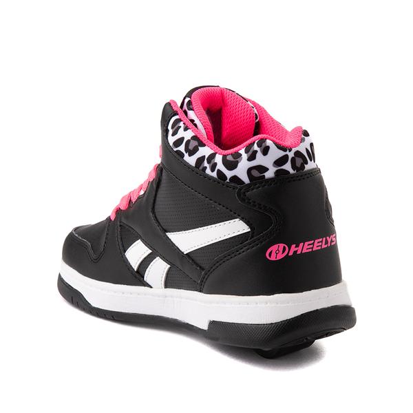 alternate view Reebok x Heelys BB4500 Mid Skate Shoe - Little Kid / Big Kid - Black / Pink / LeopardALT1