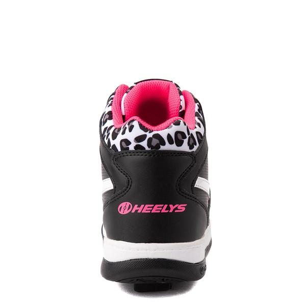 alternate view Reebok x Heelys BB4500 Mid Skate Shoe - Little Kid / Big Kid - Black / Pink / LeopardALT2B
