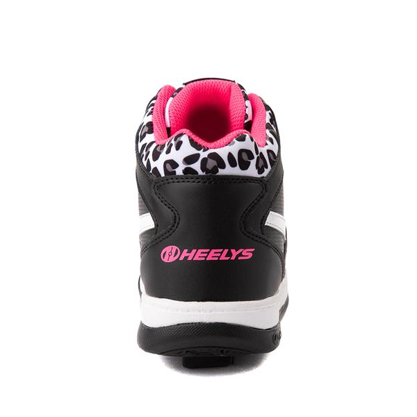 alternate view Reebok x Heelys BB4500 Mid Skate Shoe - Little Kid / Big Kid - Black / Pink / LeopardALT4