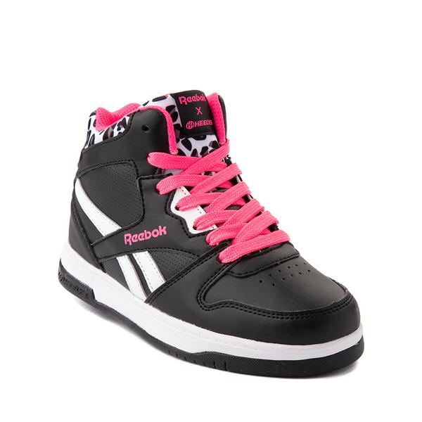 alternate view Reebok x Heelys BB4500 Mid Skate Shoe - Little Kid / Big Kid - Black / Pink / LeopardALT5
