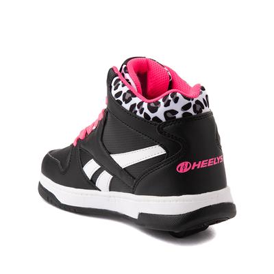 Alternate view of Reebok x Heelys BB4500 Mid Skate Shoe - Little Kid / Big Kid - Black / Pink / Leopard
