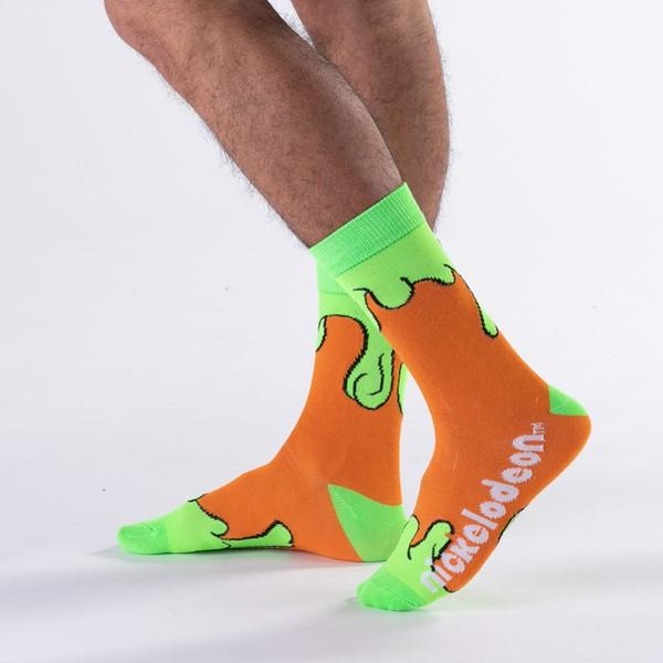 alternate view Mens Nickelodeon Crew Socks 3 Pack - MulticolorALT1