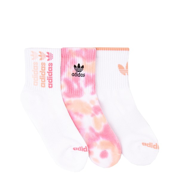 Womens adidas Clear Wash Quarter Socks 3 Pack - Multicolor