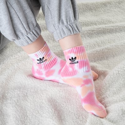 Alternate view of Womens adidas Clear Wash Quarter Socks 3 Pack - Multicolor