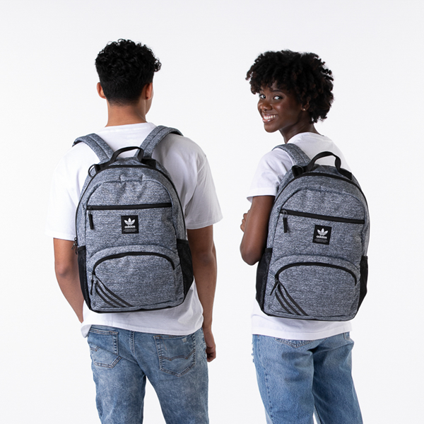 alternate view adidas National Backpack - Heather GrayALT1BADULT