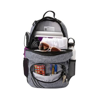 Alternate view of adidas National Backpack - Heather Gray