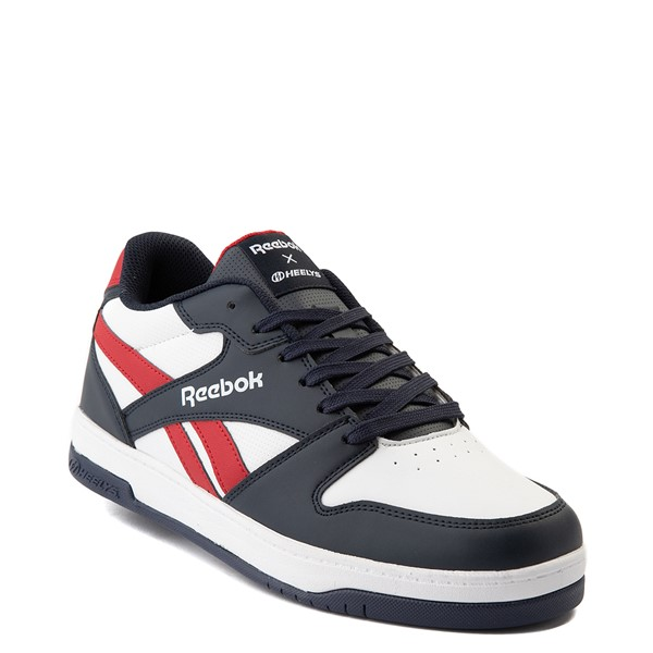 alternate view Mens Reebok x Heelys BB4500 Low Skate Shoe - White / NavyALT1