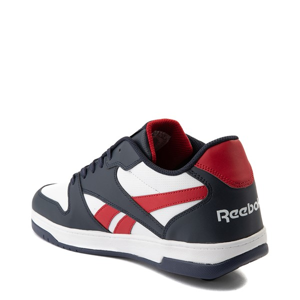 alternate view Mens Reebok x Heelys BB4500 Low Skate Shoe - White / NavyALT2