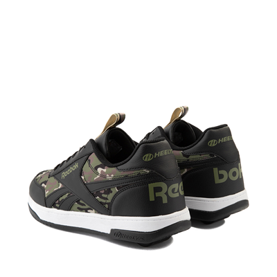 Alternate view of Mens Reebok x Heelys CL Court Low Skate Shoe - Black / Camo