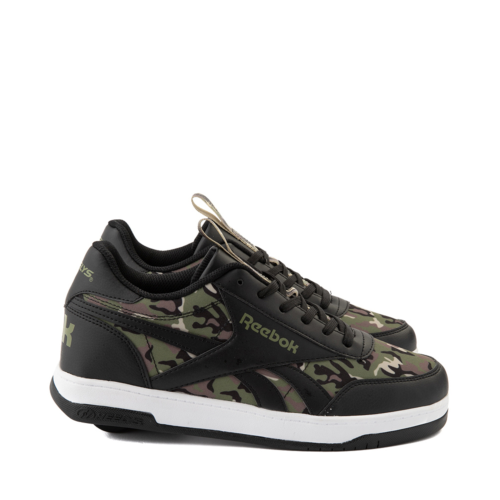 Mens Reebok x Heelys CL Court Low Skate Shoe - Black / Camo