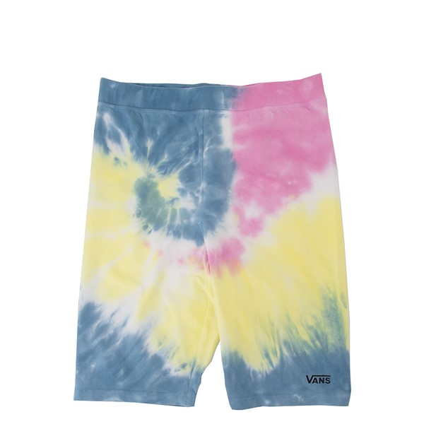Womens Vans Spiraling Bike Shorts - Tie Dye