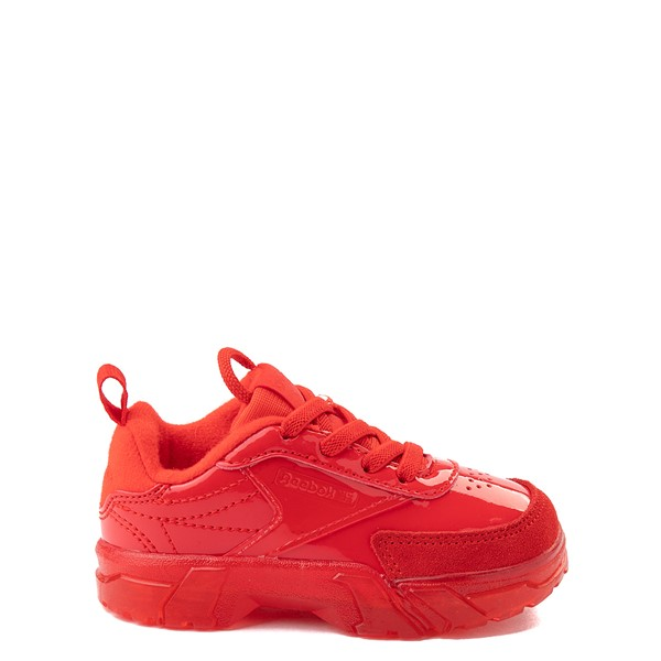 Main view of Reebok Club C Cardi Athletic Shoe - Baby / Toddler - Instinct Red / Clear
