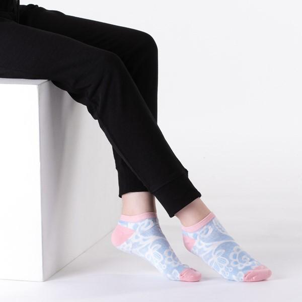 alternate view Womens Romance Floral Low Cut Socks 5 Pack - MulticolorALT1