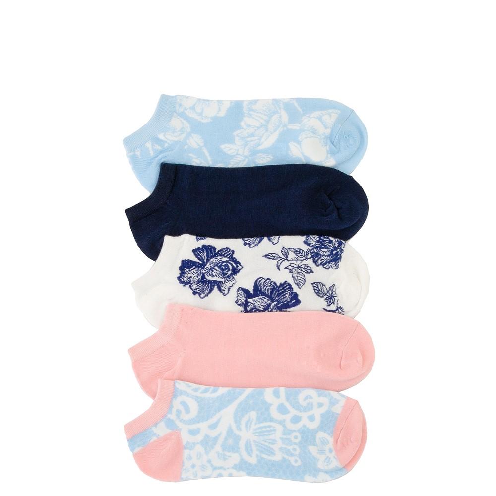 Womens Romance Floral Low Cut Socks 5 Pack - Multicolor
