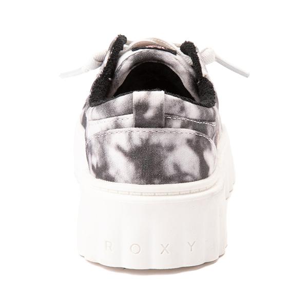 alternate view Womens Roxy Sheilahh Platform Casual Shoe - Black / Bleach WashALT4