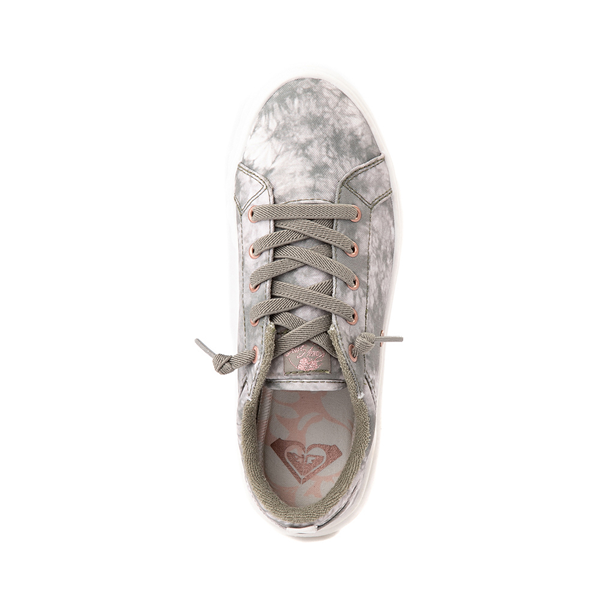 alternate view Womens Roxy Sheilahh Platform Casual Shoe - Olive / Bleach WashALT2