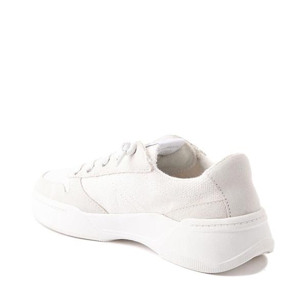 alternate view Womens Roxy Harper Slip On Casual Shoe - White MonochromeALT1