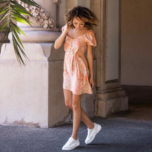 alternate view Womens Roxy Harper Slip On Casual Shoe - White MonochromeALT1B