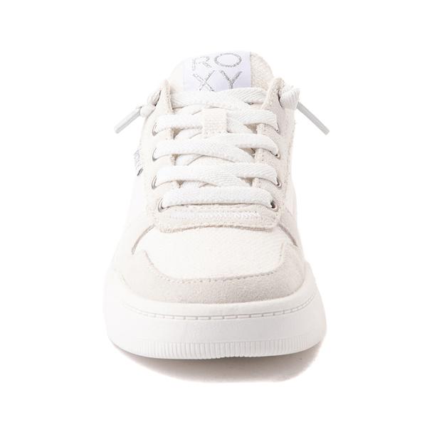 alternate view Womens Roxy Harper Slip On Casual Shoe - White MonochromeALT4