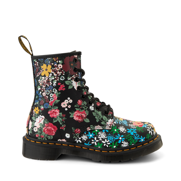 Main view of Womens Dr. Martens 1460 8-Eye Boot - Black / Floral Mashup